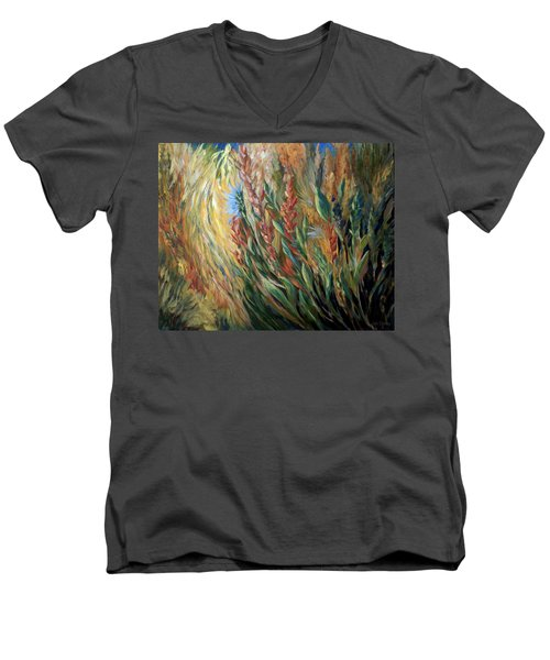 Autumn Bloom Men's V-Neck T-Shirt