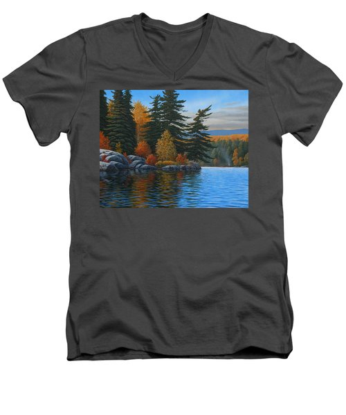 Autumn Breeze Men's V-Neck T-Shirt