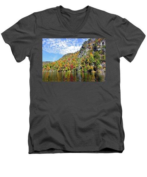 Autumn Colors On A Lake Men's V-Neck T-Shirt