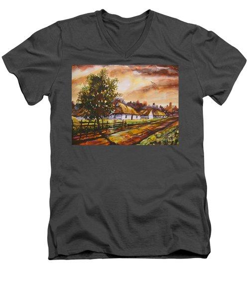 Autumn Cottages Men's V-Neck T-Shirt