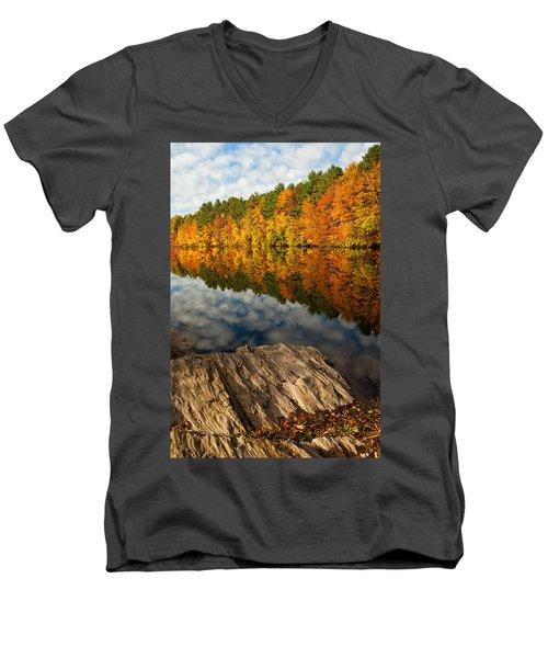 Autumn Day Men's V-Neck T-Shirt by Karol Livote