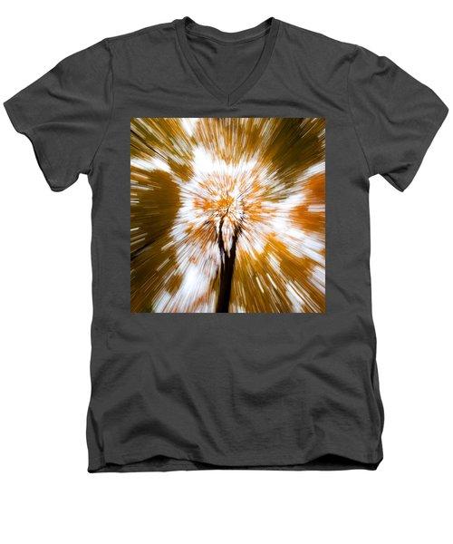 Autumn Explosion Men's V-Neck T-Shirt