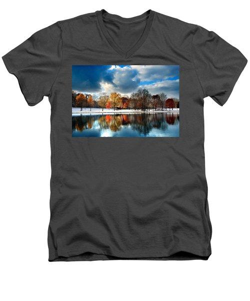 Autumn Finale Men's V-Neck T-Shirt by Rob Blair