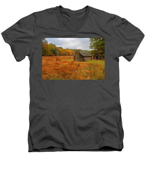 Autumn Foliage In Valley Forge Men's V-Neck T-Shirt