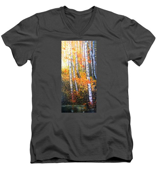 Autumn Glow Men's V-Neck T-Shirt