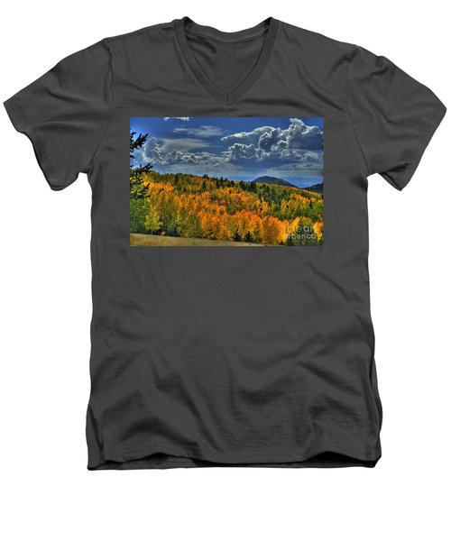 Autumn In Colorado Men's V-Neck T-Shirt
