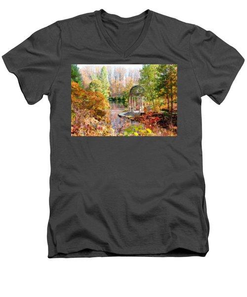 Autumn In Longwood Gardens Men's V-Neck T-Shirt