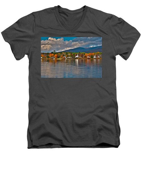 Autumn In Melvin Village Men's V-Neck T-Shirt