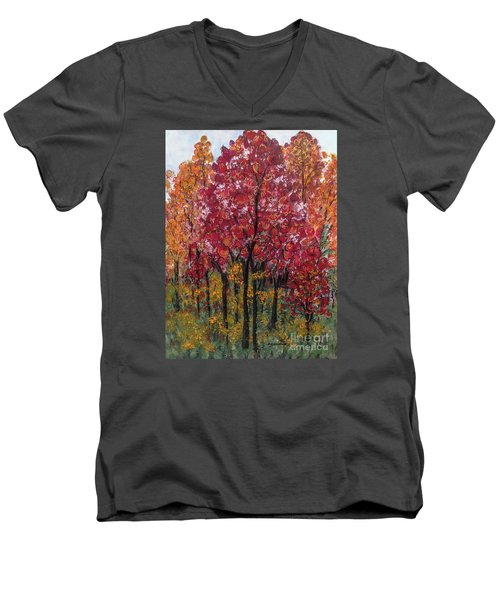Autumn In Nashville Men's V-Neck T-Shirt by Holly Carmichael
