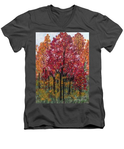 Autumn In Nashville Men's V-Neck T-Shirt