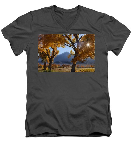Autumn In The Mountains Men's V-Neck T-Shirt by Andrew Soundarajan