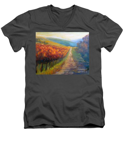 Autumn In The Vineyard Men's V-Neck T-Shirt