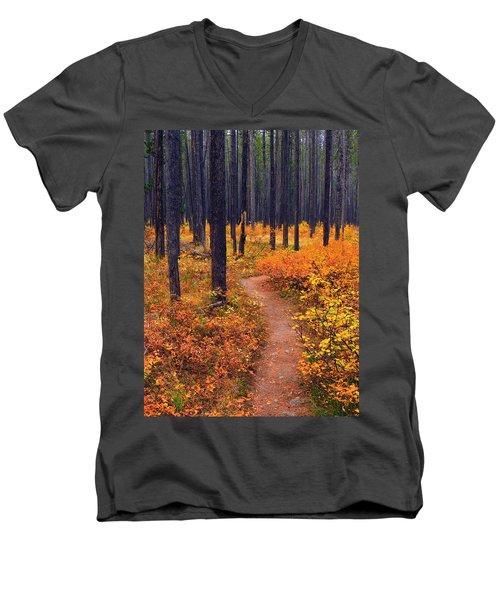 Autumn In Yellowstone Men's V-Neck T-Shirt