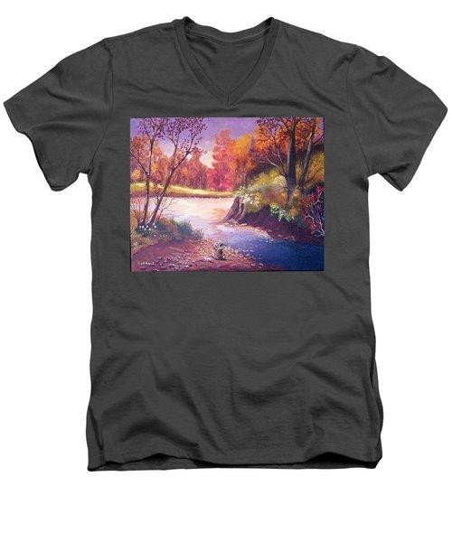 Autumn Leaves Men's V-Neck T-Shirt by Catherine Swerediuk