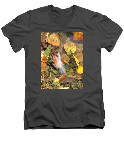 Autumn Leavings Men's V-Neck T-Shirt by Ann Horn