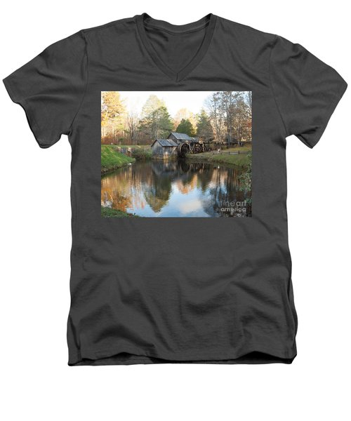 Autumn Morning At Mabry Mill Men's V-Neck T-Shirt