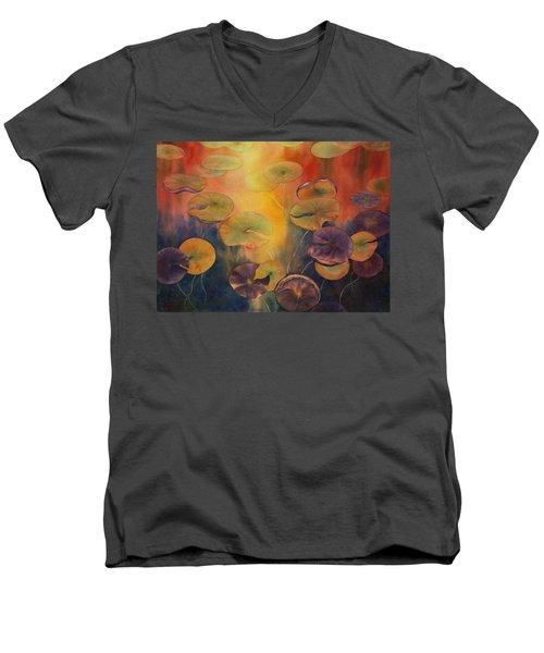 Autumn On Winslow Lake Men's V-Neck T-Shirt