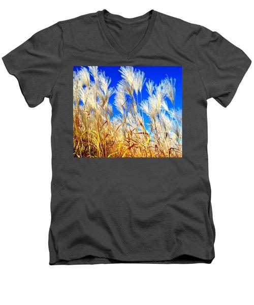 Autumn Pampas Men's V-Neck T-Shirt