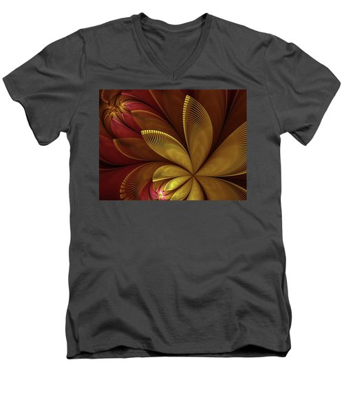Autumn Plant Men's V-Neck T-Shirt