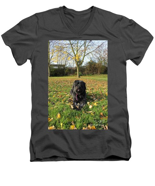 Men's V-Neck T-Shirt featuring the photograph Autumn Portrait by Vicki Spindler