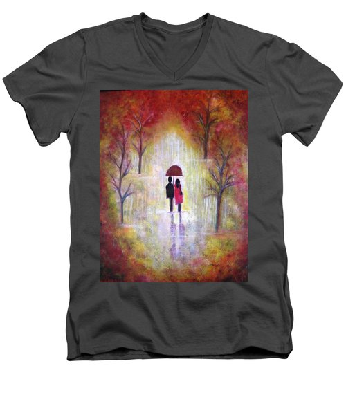 Autumn Romance Men's V-Neck T-Shirt