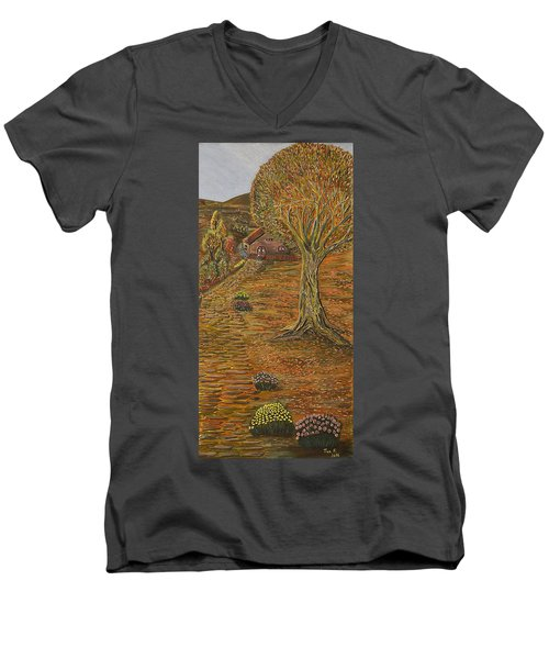 Autumn Sequence Men's V-Neck T-Shirt