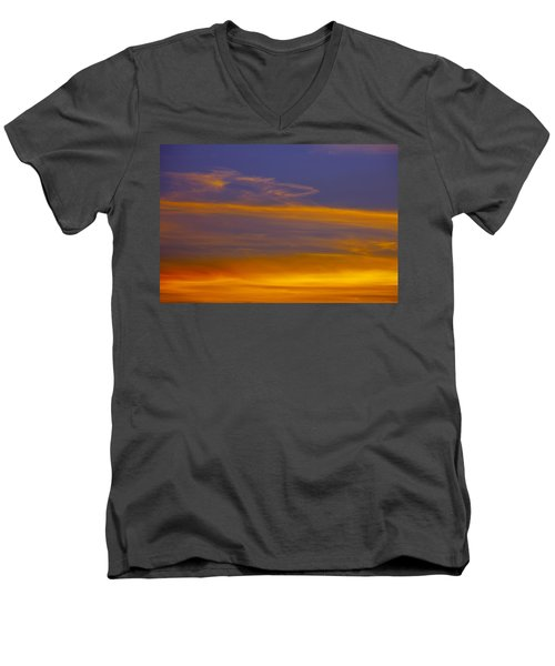 Autumn Sky Landscape Men's V-Neck T-Shirt
