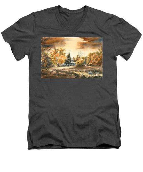 Autumn Sky No W103 Men's V-Neck T-Shirt