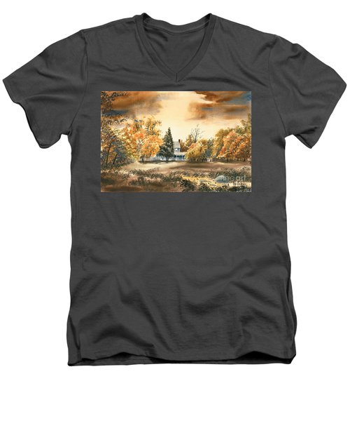Autumn Sky No W103 Men's V-Neck T-Shirt