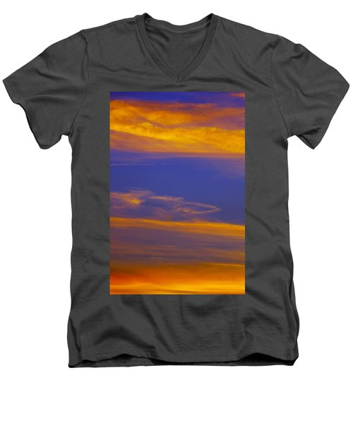 Autumn Sky Portrait Men's V-Neck T-Shirt