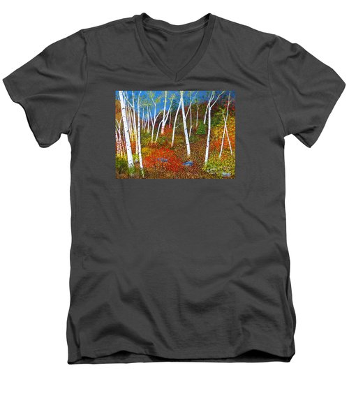 Autumn Splendour Men's V-Neck T-Shirt