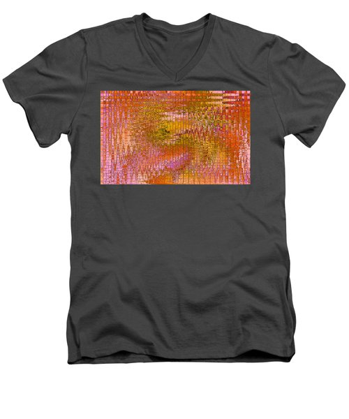 Men's V-Neck T-Shirt featuring the digital art Autumn by Stephanie Grant