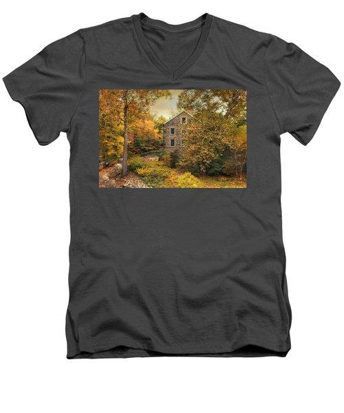 Autumn Stone Mill Men's V-Neck T-Shirt
