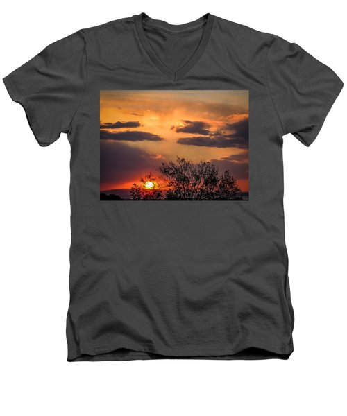 Autumn Sunrise Men's V-Neck T-Shirt