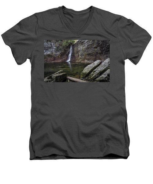 Autumn Swirls Men's V-Neck T-Shirt by James Dean