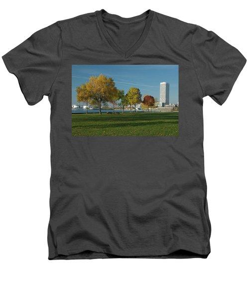 Autumn Trees Men's V-Neck T-Shirt by Jonah  Anderson