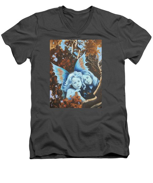 Autumn Turning. Men's V-Neck T-Shirt by Vivien Rhyan