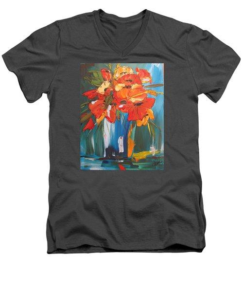 Autumn Vase Men's V-Neck T-Shirt by Terri Einer