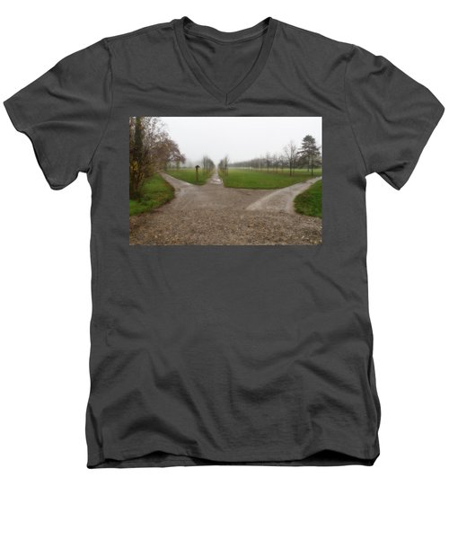 Autumnal Countryscape Men's V-Neck T-Shirt