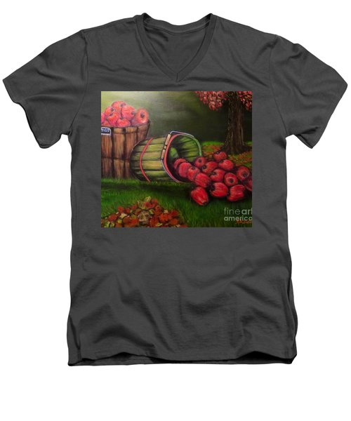 Autumn's Bounty In The Volunteer State Men's V-Neck T-Shirt by Kimberlee Baxter