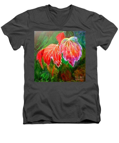 Autumn's Dance Men's V-Neck T-Shirt