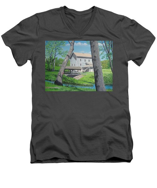 Award-winning Painting Of Beckman's Mill Men's V-Neck T-Shirt