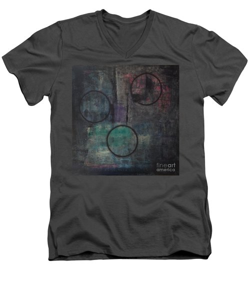 Aware Of Silence Men's V-Neck T-Shirt by Mini Arora