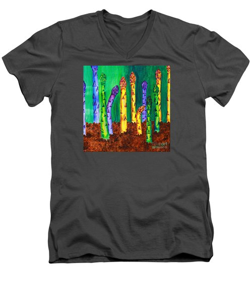 Awesome Asparagus Men's V-Neck T-Shirt