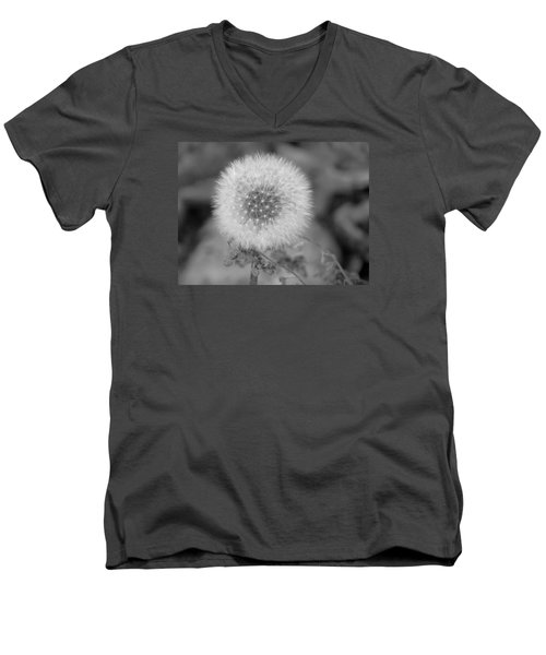 B And W Seed Head Men's V-Neck T-Shirt