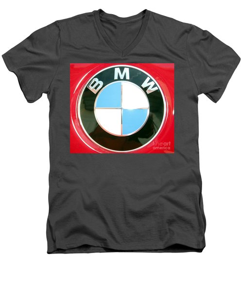 Men's V-Neck T-Shirt featuring the photograph Elite Transportation by Susan Carella