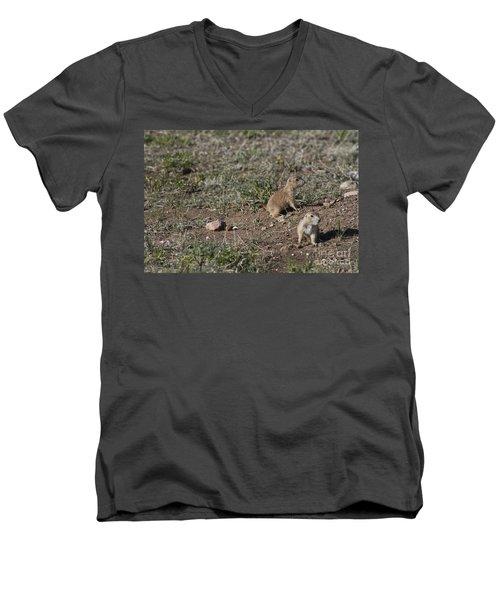 Babies At Play Men's V-Neck T-Shirt