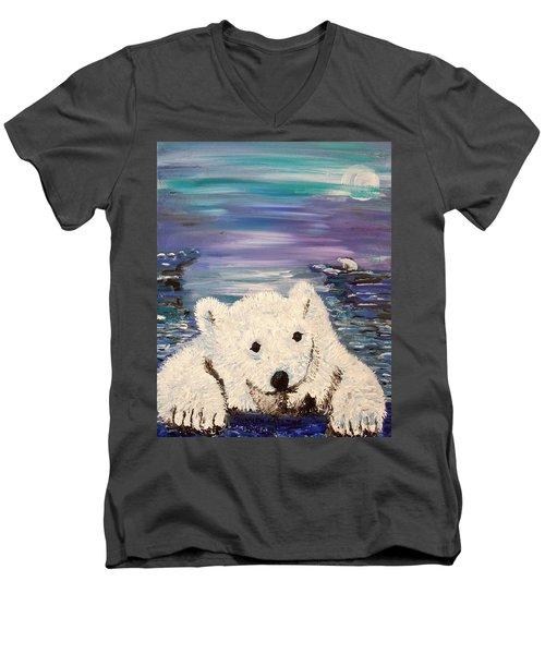 Baby Bear Men's V-Neck T-Shirt