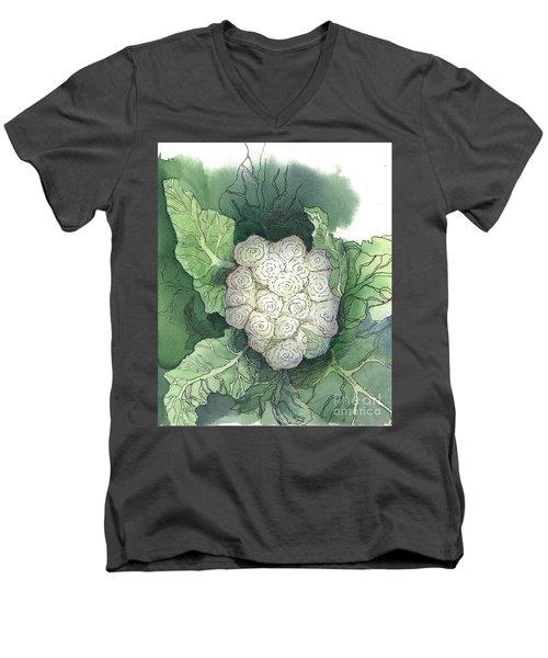 Baby Cauliflower Men's V-Neck T-Shirt by Maria Hunt