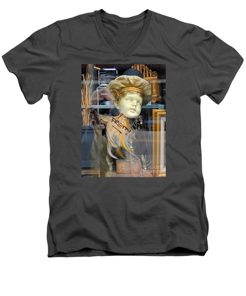 Baby Face  Men's V-Neck T-Shirt
